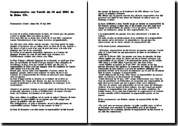 Cass. 2ème Civ. 10 mai 2001