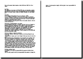 Cass. 2ème Civ. 19 Février 1997 - B. c/ D. et autres