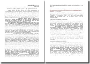 Commentaire comparé des 2 arrêts Cass. Ass. 14 Avril 2006