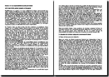 Cassation 9 mai 1984, arrêts Lemaire et Derguini