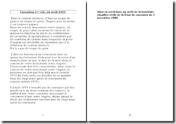 Cassation 1ère Civ. 18 avril 1953