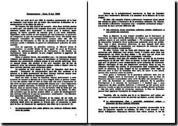 Cassation Com. 9 mai 1995