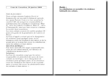 Cour de Cassation, 20 janvier 2000