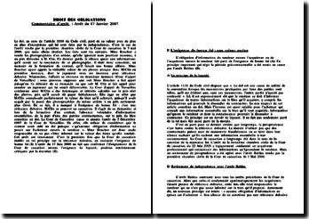 Cassation 1ère Civ. 3 mai 2000