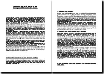 Cassation 2ème Civ. 24 fév 2005 - responsabilité du fait des choses