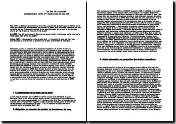 Cassation 2ème Civ. 6 mars 2006 - lien de causalité