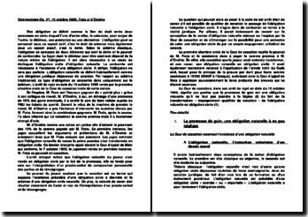 Cassation 1ère Civ. 10 octobre 1995, Frata c/ d'Onofrio