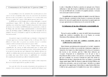 Commentaire d'arrêt : Cassation 3ème Civ. 11 janvier 2006