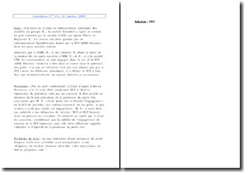 Cassation 1ère Civ. 25 janvier 2005