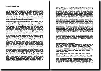 Cassation, 3ème Civ. 15 décembre 1999