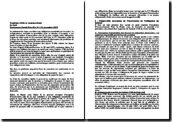 Cassation 3ème Civ. 21 novembre 1973