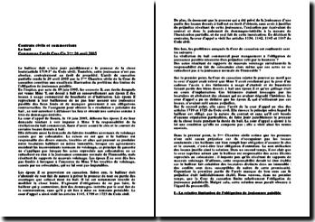 Cassation 3ème Civ. 20 avril 2005