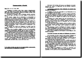 Cass. 1ère civ., 7 mars 1989