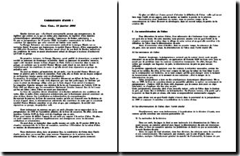 Cassation, Com. 15 janvier 2002