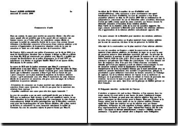 Cours de Cassation 1ere ch. civ 8 novembre 1982