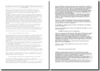 Commentaire de l'arrêt rendu par la 3ème Chambre civile de la Cour de cassation du 20 janvier 2009