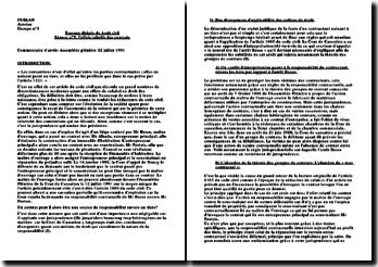 L'effets relatifs des contrats, arrêt du 12 juillet 2001