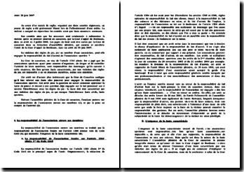 Arrêt 29 juin 2007 Cour de cassation 2ème ch. Civile