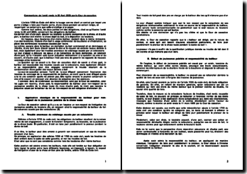 Commentaire de l'arrêt rendu le 20 Avril 2005 par la Cour de cassation
