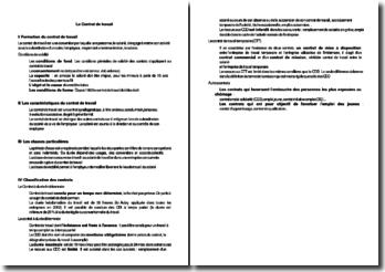 Les éléments constitutifs élémentaires du contrat de travail