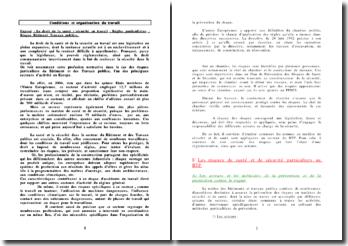 Le droit de la santé / sécurité au travail: Règles particulières : Les Risques dans le Bâtiment et Travaux publics