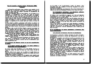 Cass. Soc. 19 décembre 2000 (Labanne)
