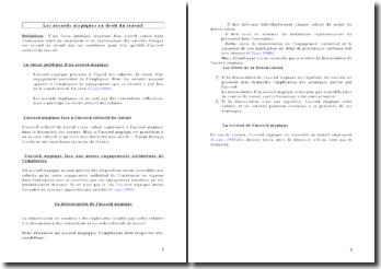 Les accords atypiques en droit du travail