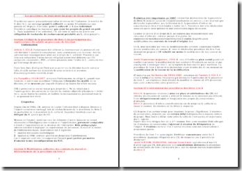 Les procédures de traitement du projet de licenciement