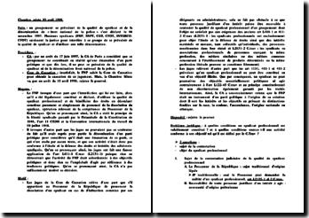 Cassation Chambre mixte. 10 avril 1998