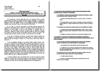 Commentaire de l'arrêt de la chambre sociale de la cour de cassation du 15 mai 2008