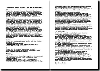 Commentaire comparé des arrêts 5 mars 2008, 16 janvier 2008