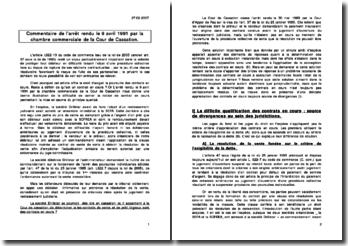 Cass. Com. 9 avril 1991 droit des entreprises en difficultés, sur les contrats en cours