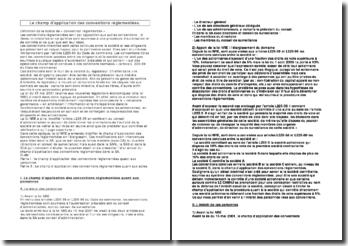 Le champ d'application des conventions réglementées