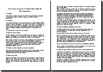 Cass. 3ème Civ. 3 juillet 1996