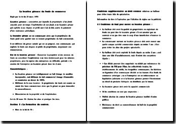 dissertation sur la location gérance