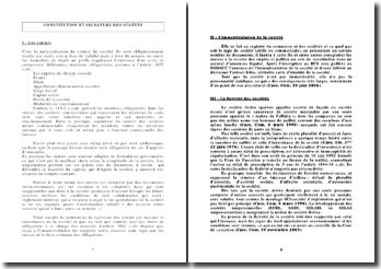 Constitution et signature des statuts