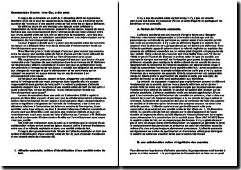 Commentaire d'arrêt: 1ère Civ., 3 déc 2008