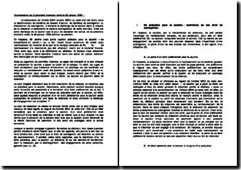 Cass. 1ère Civ. 26 janvier 1999