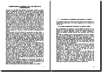 Commentaire de l'article L341-2 du code de la consommation