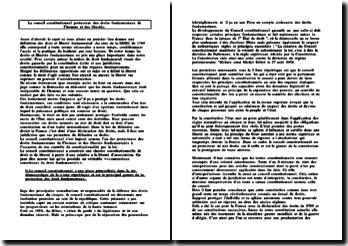 Le conseil constitutionnel protecteur des droits fondamentaux de l'homme et des libertés
