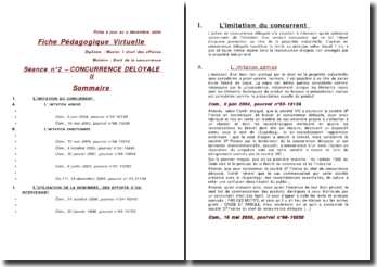 Concurrence déloyale II