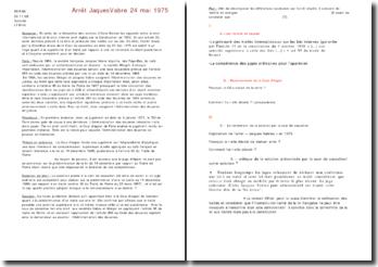 Arrêt Jaques Vabre 24 mai 1975