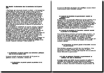 La dissolution dans la Constitution Sénégalaise du 22 janvier 2002