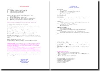 British Law - The Constitution