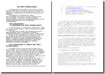 Virus informatique et droit marocain