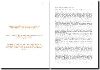 Code de la marine marchande sénégalais