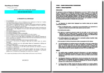 Code des marchés publics sénégalais