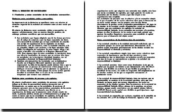 Droit Espagnol - Derecho de Sociedades