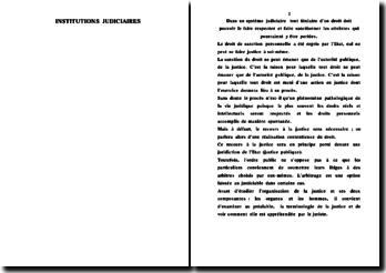 Les Institutions judiciaires au Sénégal: La Justice
