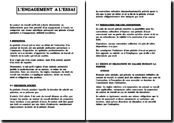 L'engagement à l'essai en droit social ivoirien